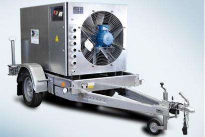 banc de charge sur remorque pour maintenance groupe électrogène