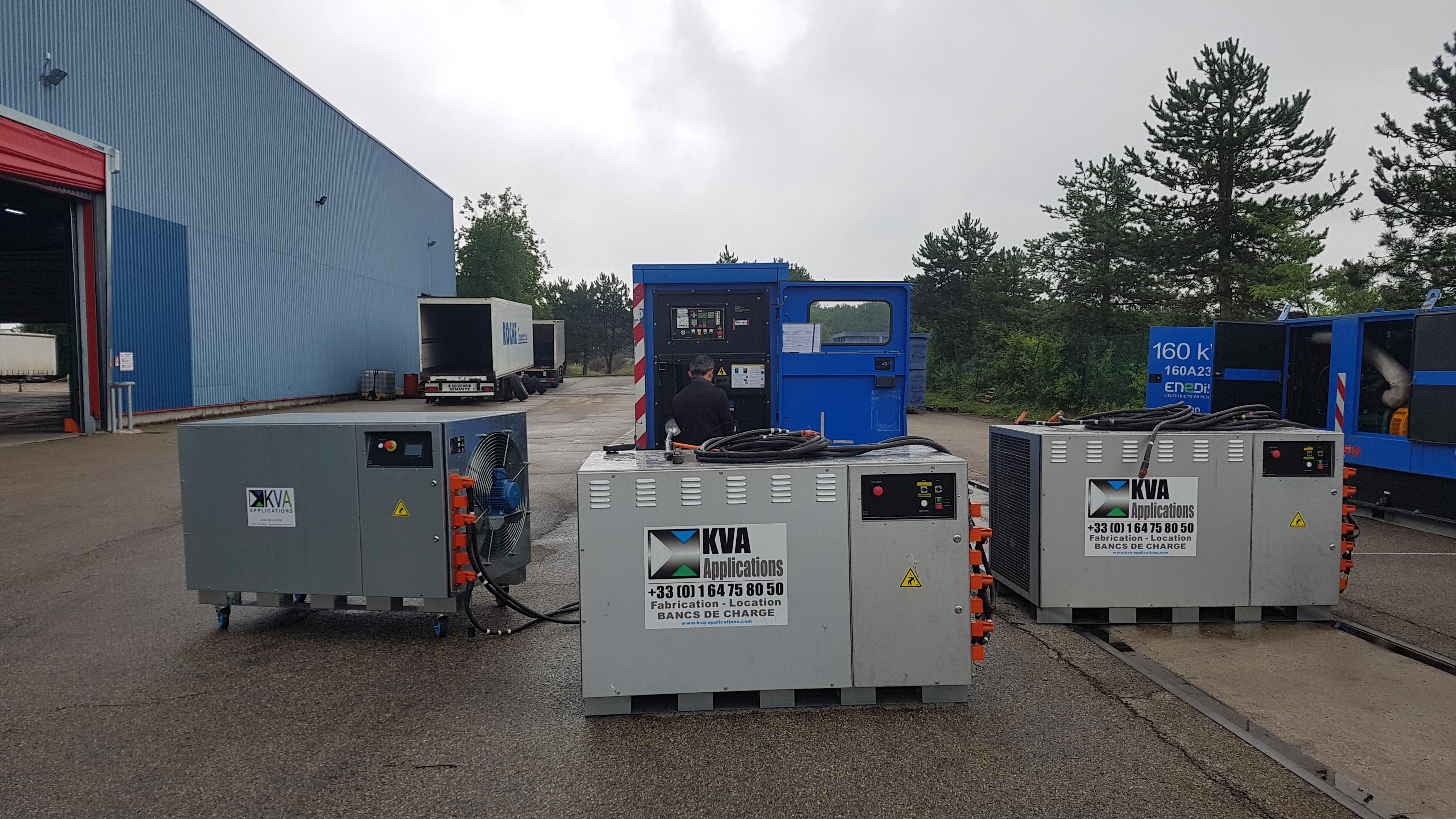 KVA Application load bank test, 400kW, Serval Beynost Platform
